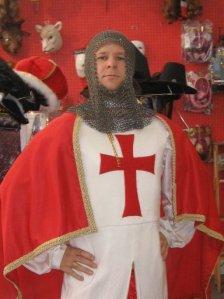 Nicholas The Bard dressed up as King Arthur