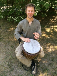 Nicholas The Bard with his djembe